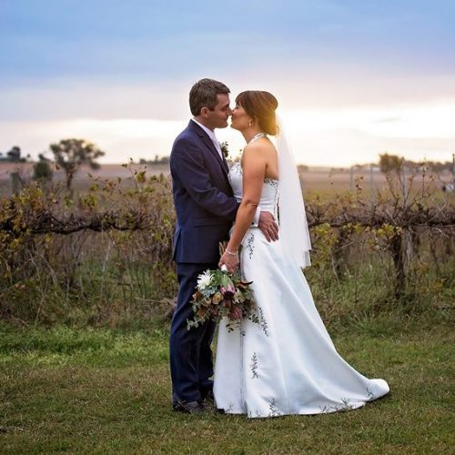 Rustic vineyard wedding with florals by willa floral design