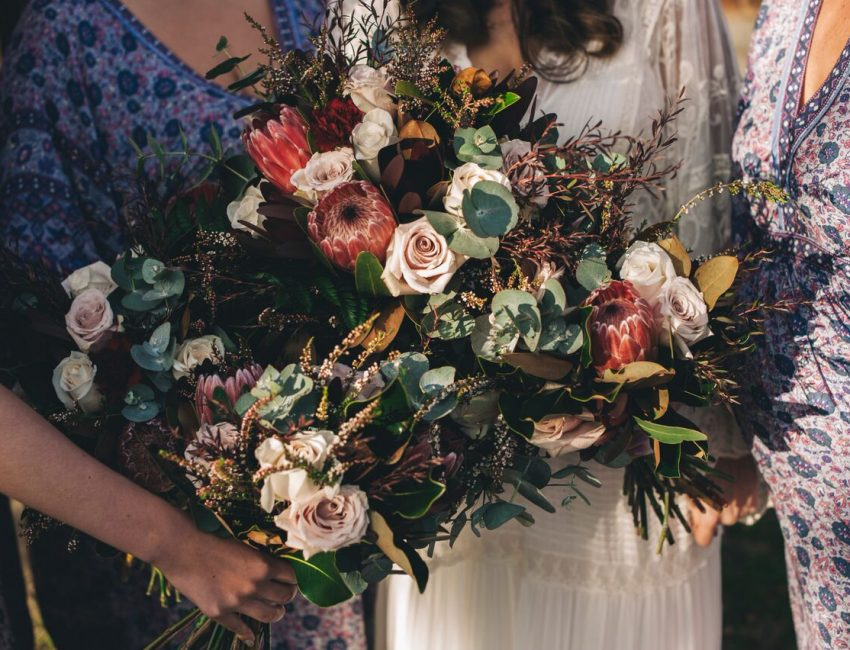 Beautiful rustic winter bouquets by willa floral design