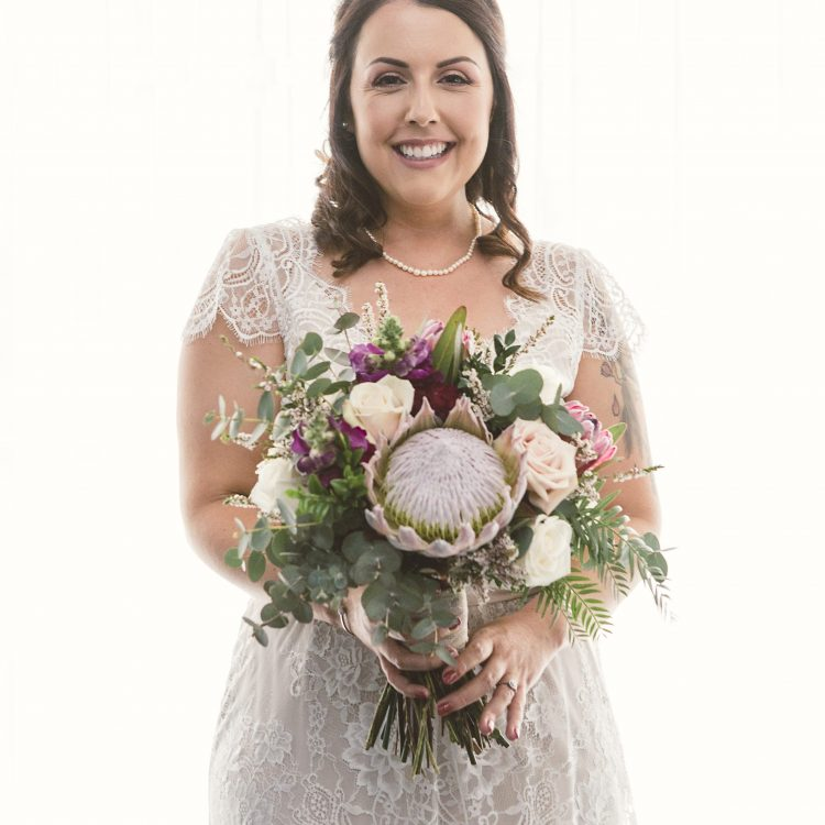 Beautiful protea bouquet by Willa Floral Design