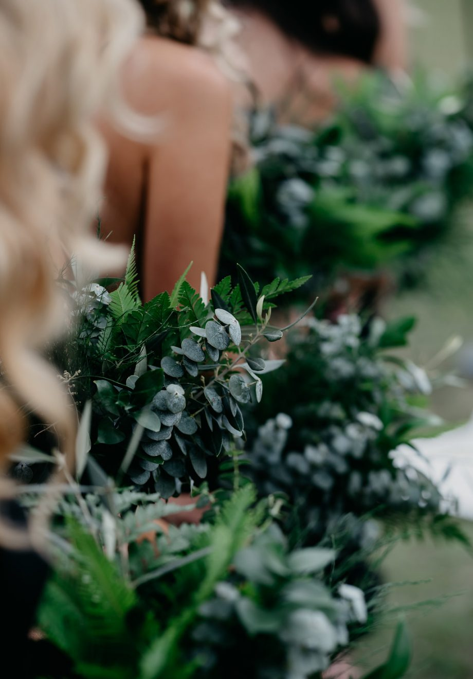 Modern rustic foliage bouquets by willa floral design