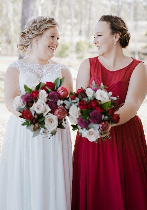 bride bouquets hunter valley enzo wedding ironbark hill willa floral design