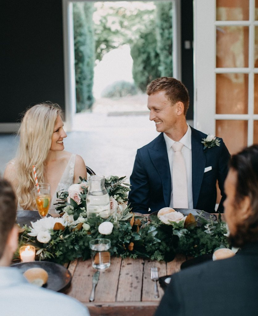 Wedding flowers reception Redleaf Wollombi