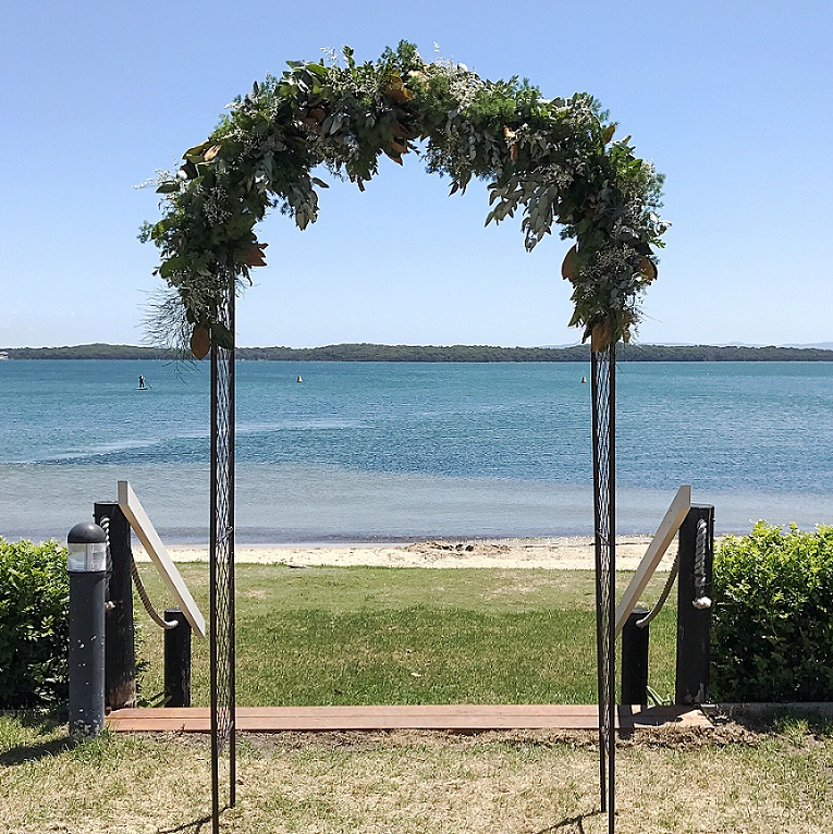 Wedding reception arch hire and arrangement