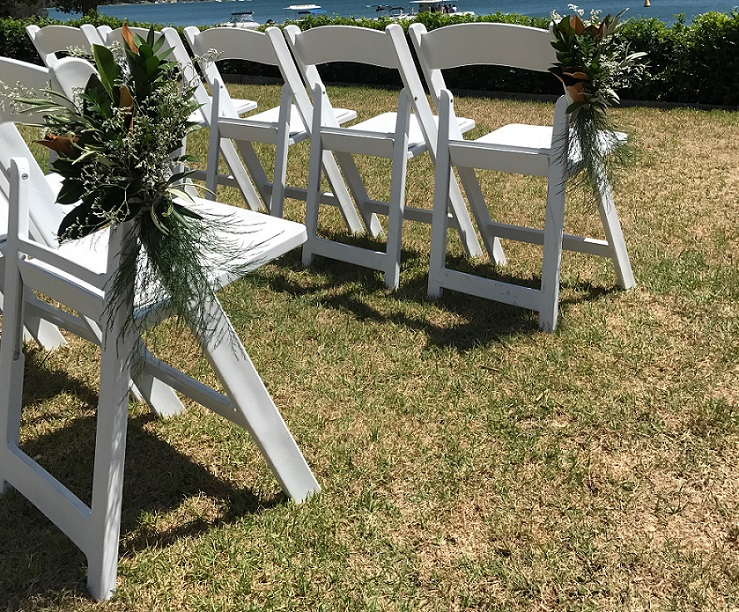 Ceremony chair arrangements