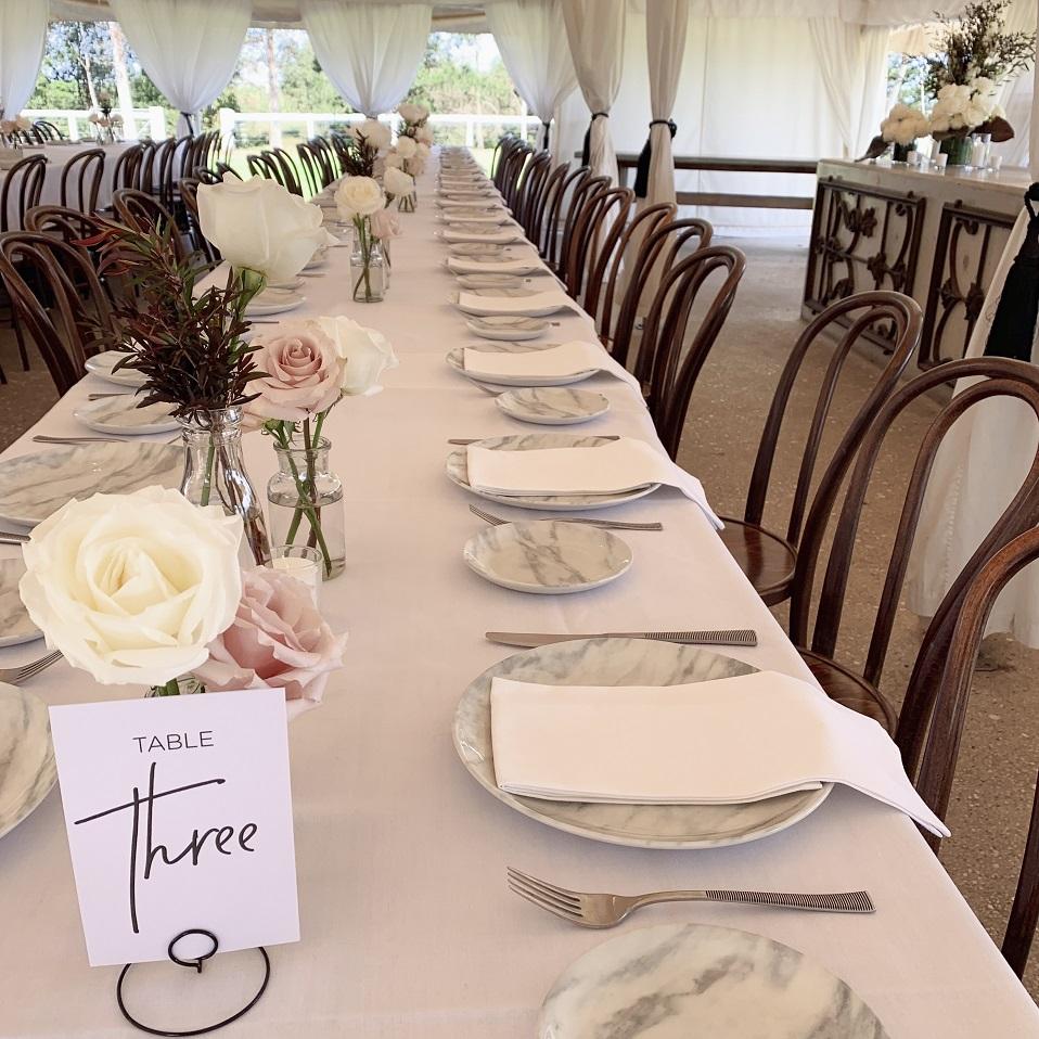 wedding reception flowers wallalong house