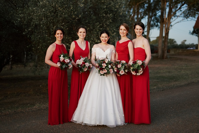 bridal party bouquets wandin estate