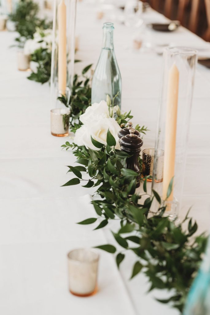 table garland candles