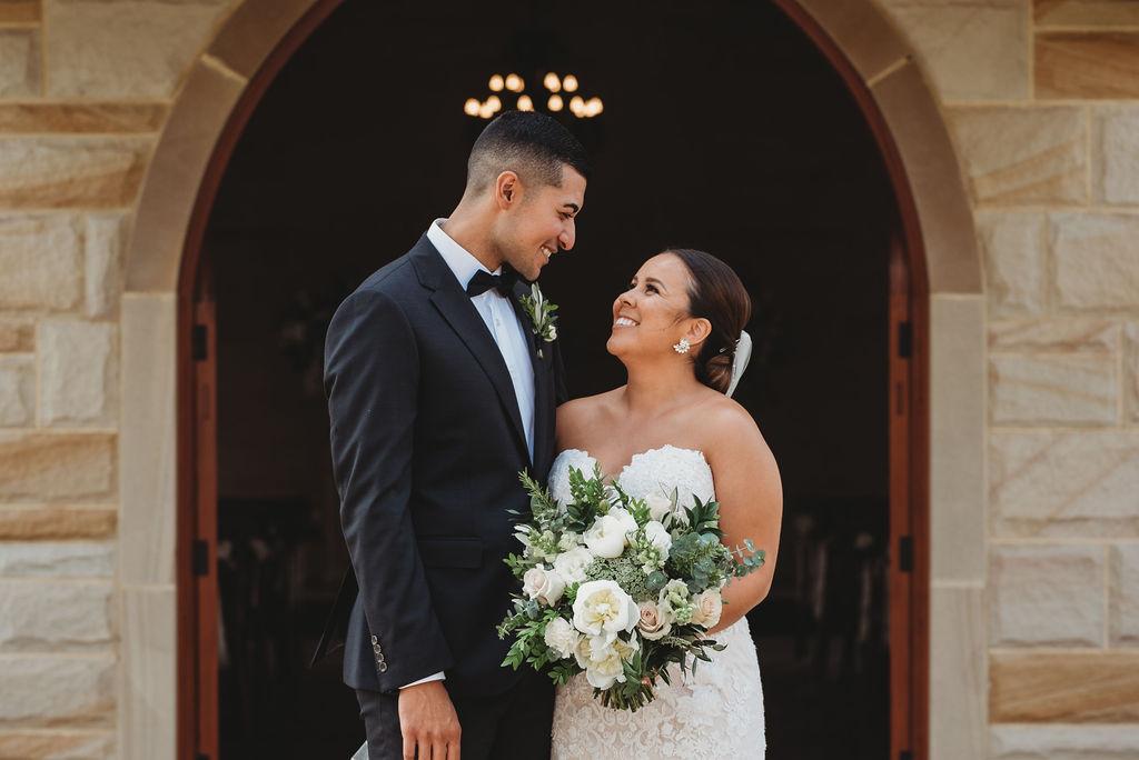 bride bouquet groom corsage