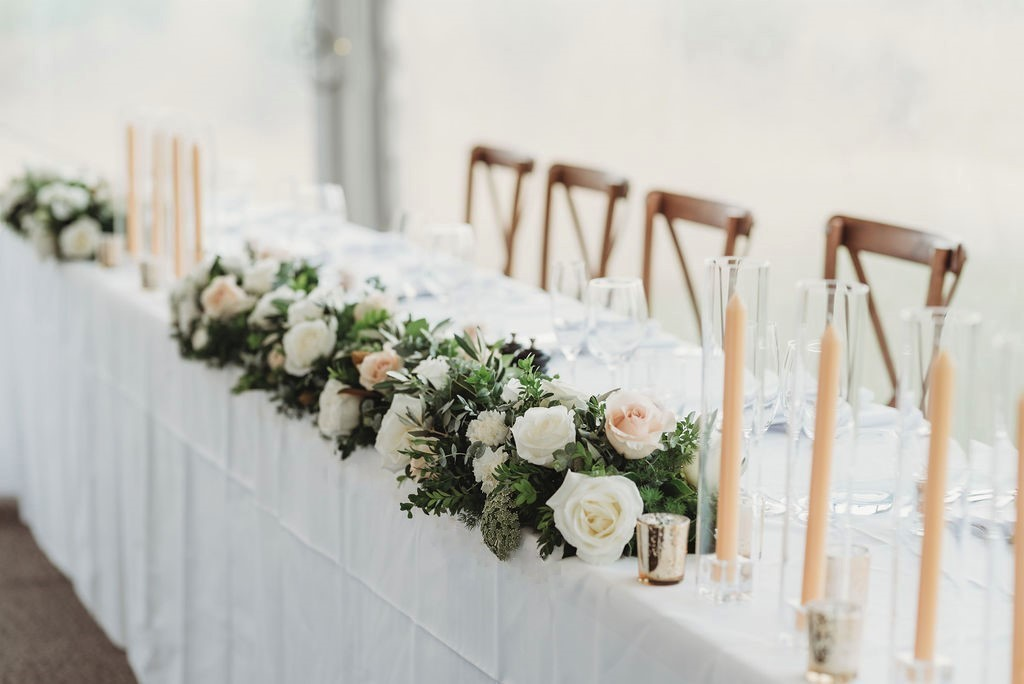 wedding table flowers styling hire