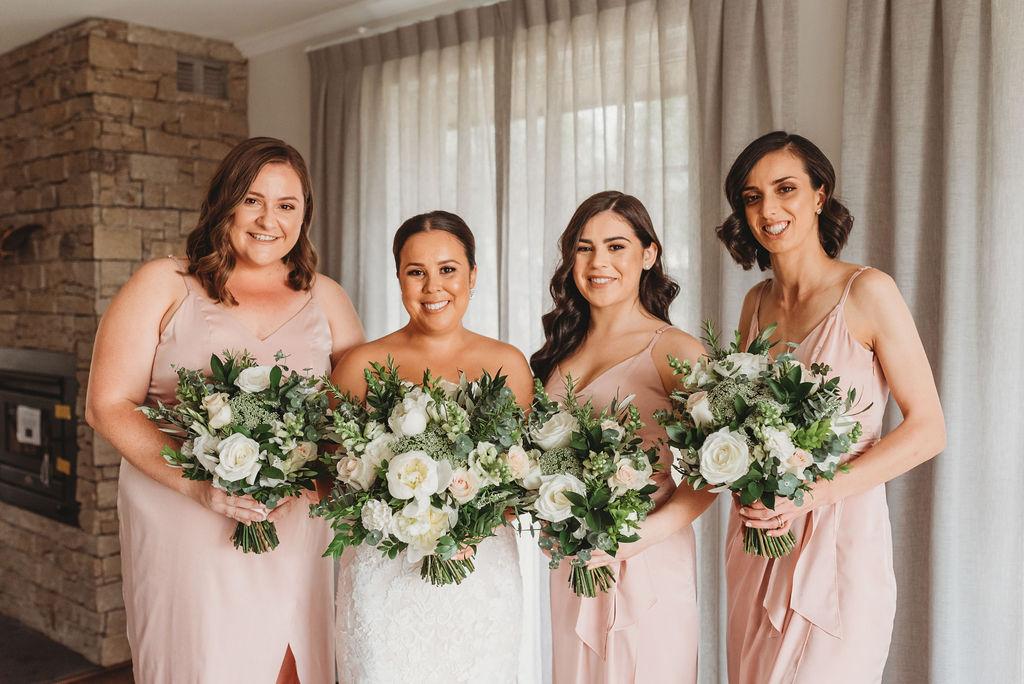 white blush wedding bouquets