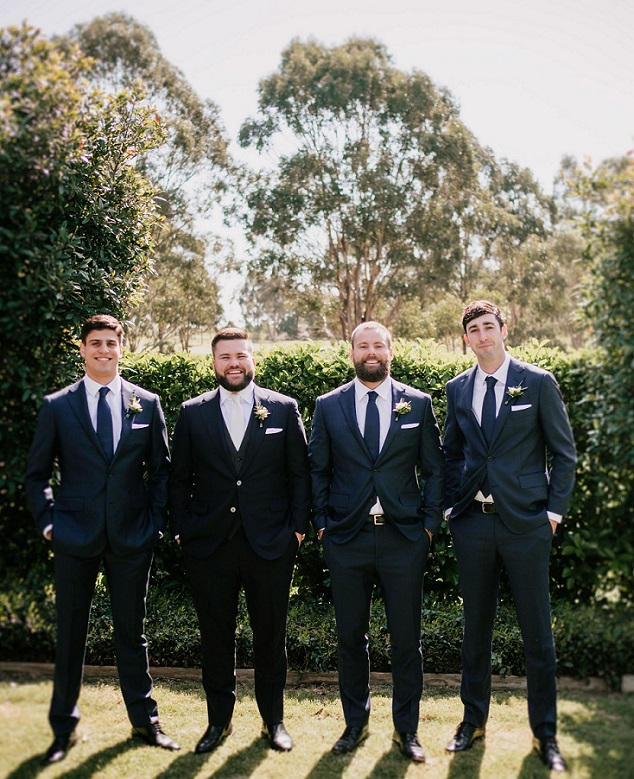 groom groomsmen corsages