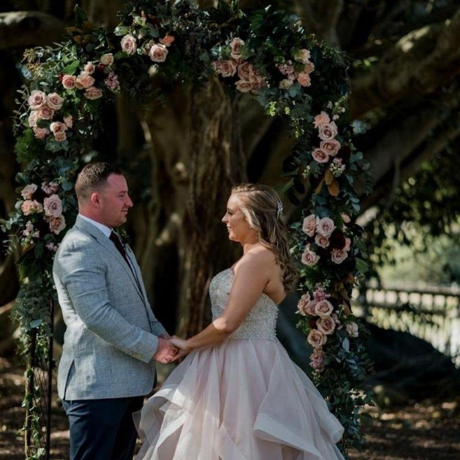 wedding styling arch
