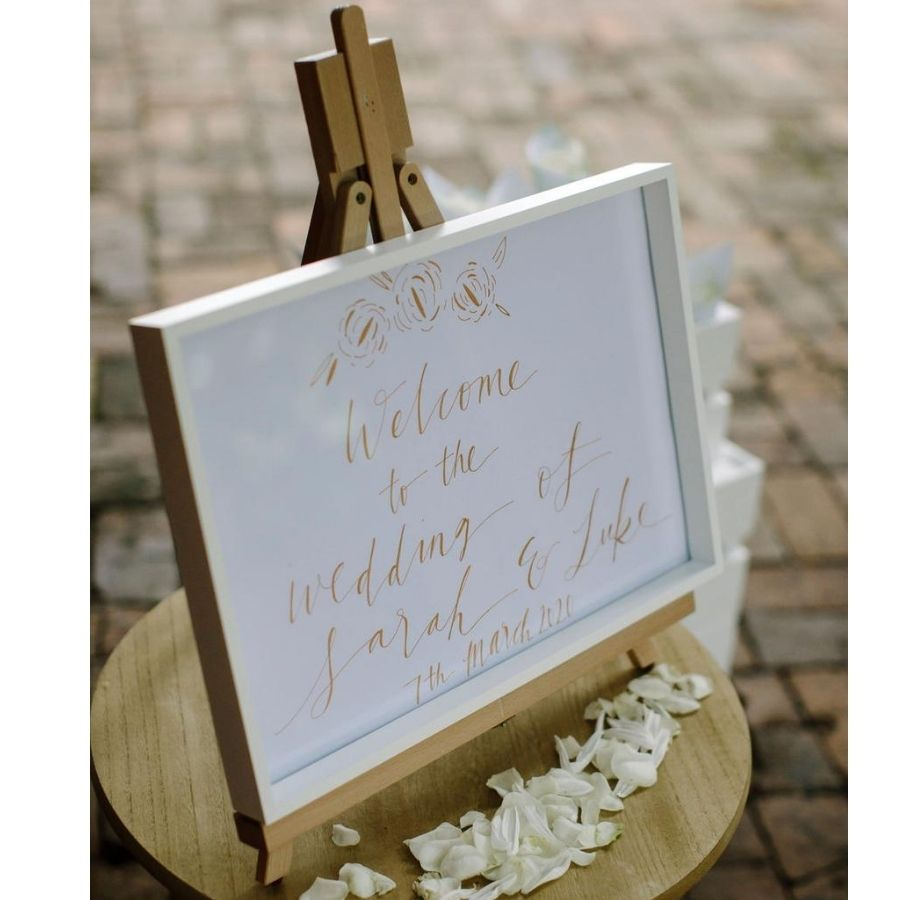 wedding hire timber easel