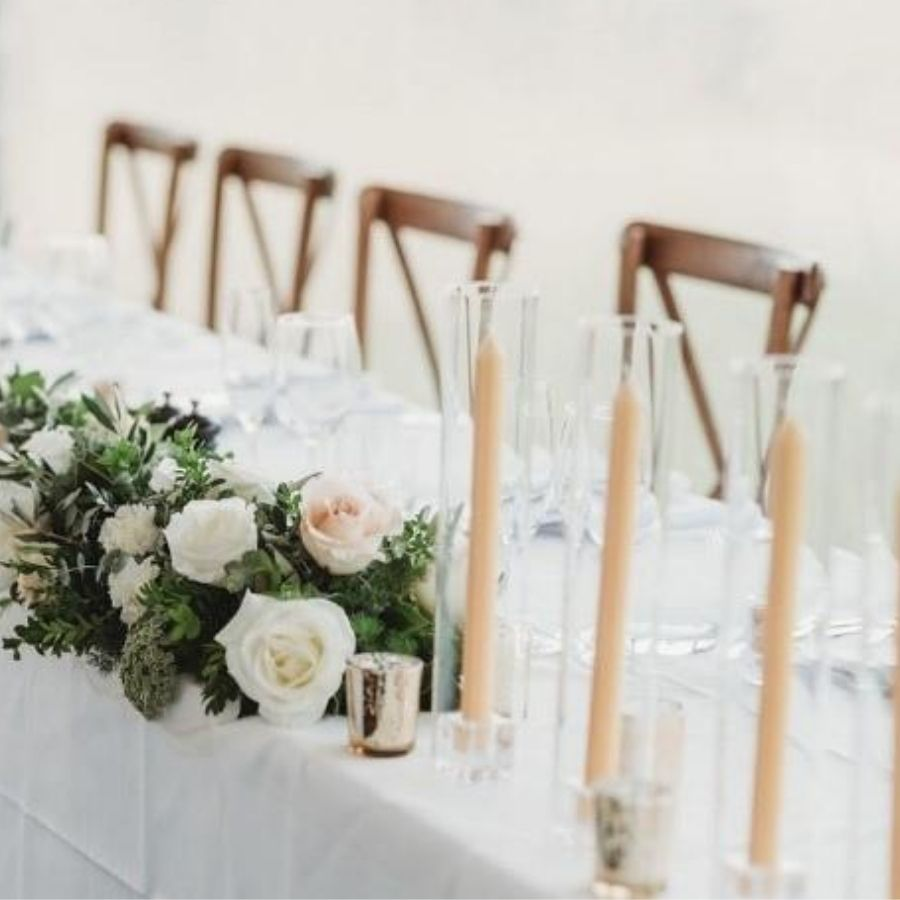wedding styling taper candles