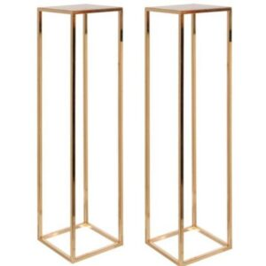 wedding styling gold stands
