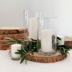 styling hire timber table rounds