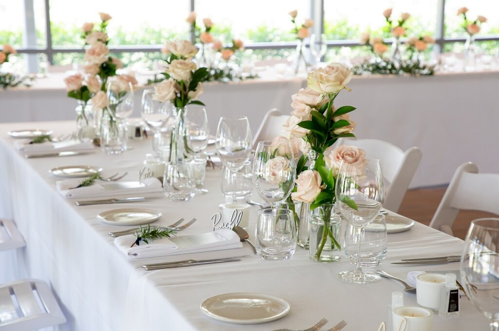 Spicers Guesthouse reception flowers