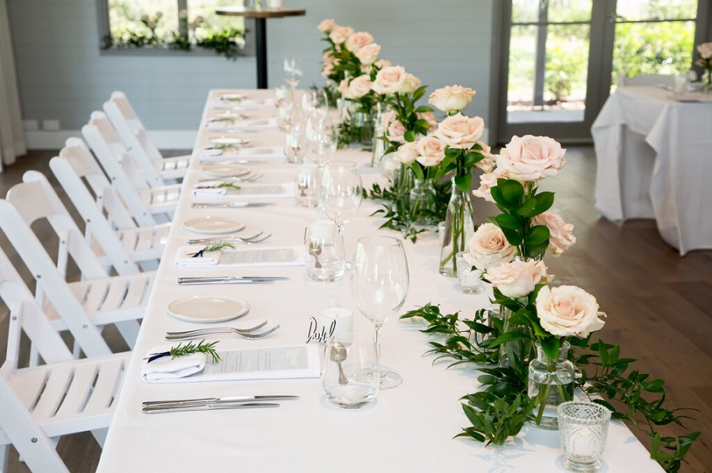 wedding reception flowers and styling