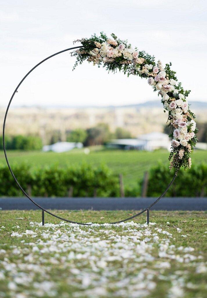 aisle petals wedding arch