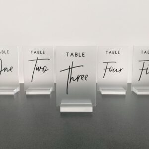 wedding reception styling décor table numbers